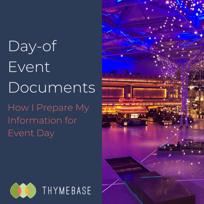 The Day-of Event Documents