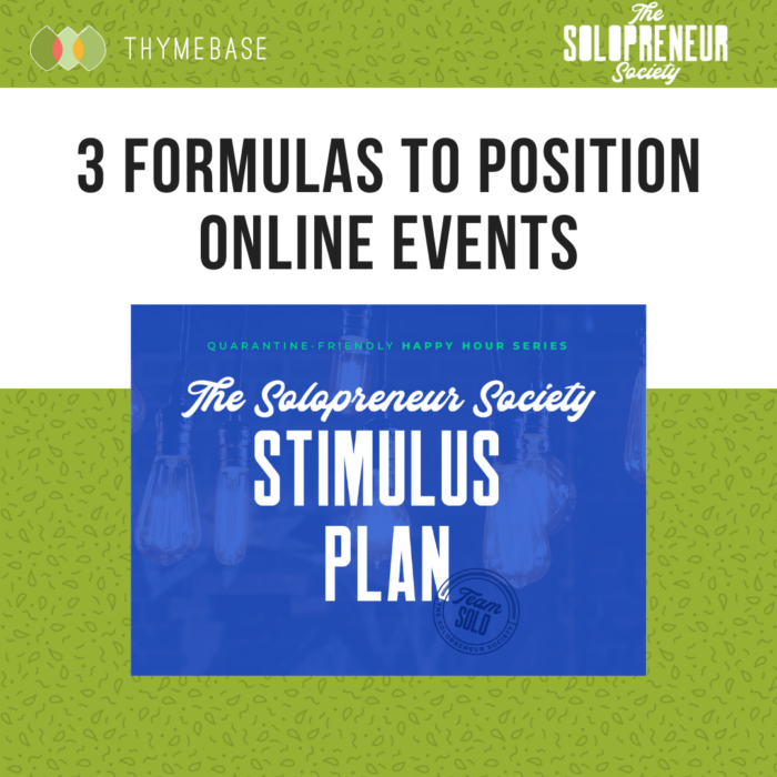 3 Formulas to position online events